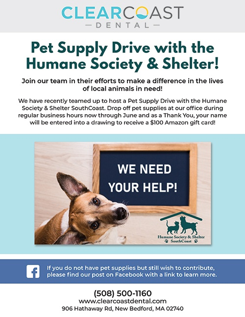 pet supply drive flyer